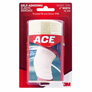Elastic Bandage 3M ACE 4 Inch Width Standard Compression Self-adherent Closure Tan NonSterile