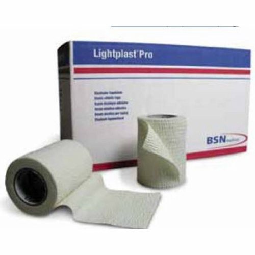 Elastic Adhesive Bandage Lightplast Pro 1 Inch X 5 Yard Standard Compression No Closure White NonSt - Case of 48 by Bsn-Jobst Hand-tearableExcellent adhesionAir permeableSuitable for light support or compressionThe unique fabric backing helps to conform to body movementIdeal for all-purpose taping