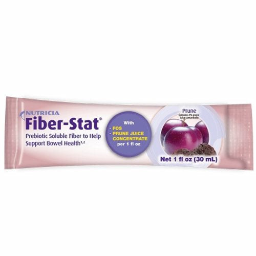 Oral Fiber Supplement Fiber -Stat Natural Flavor 1 oz. Container Individual Packet Ready to Use - Case of 96 by Medical Nutritio Prebiotic soluble fiber to help support bowel healthLow volume liquid prebiotic fiber for the dietary management of bowel regularity in persons unable to meet fiber requirements through a normal dietBowel regularity, constipation, low fiber intake, colon health and balanceReady to drink or mix with any food or beverageLactose free, gluten free and soy free