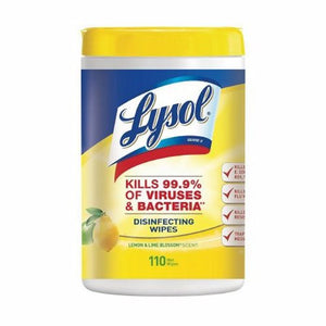 Surface Disinfectant Cleaner Lysol  Premoistened Wipe 110 Count NonSterile Canister Disposable Citru