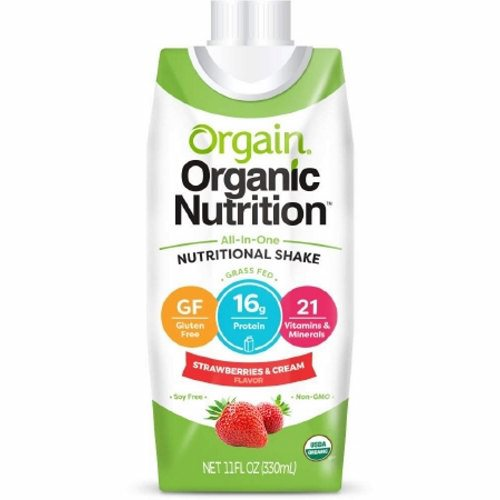 Oral Supplement Orgain Organic Nutritional Shake Strawberries and Cream Flavor 11 oz. Container Car - 1 Each by Orgain Naturally delicious taste16 grams of organic proteinOrganic fruit and veggie blend23 vitamins and minerals