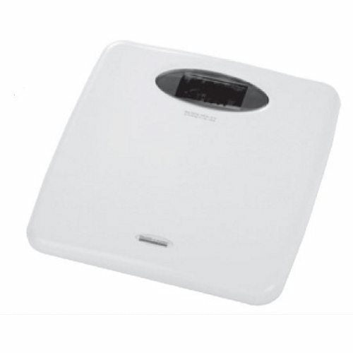 Floor Scale Health O Meter Digital Display 440 lbs. White AC Adapter / Battery Operated - White 1 Each by Health O Meter The all metal base is tough and durable and the base also is a non-slip baseThe Digital Display is a large 1-1/2 inches tall making for easy weight readingThis scale also has dual weighing modes meaning with a simple switch, you can weigh in pound graduations or kilogram graduationsWeight graduations: 0.1 lb. or 150 gLong life replaceable lithium battery1 Year Limited Warranty