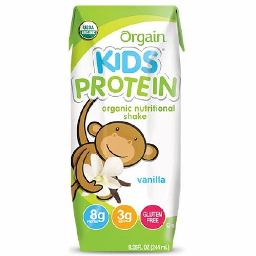 Pediatric Oral Supplement Orgain Kids Protein Organic Nutritional Shake Vanilla Flavor 8? oz. Cart - 1 Each by Orgain Orgain shakes have organic protein, fruits and veggies, and a taste kids love8 grams of protein