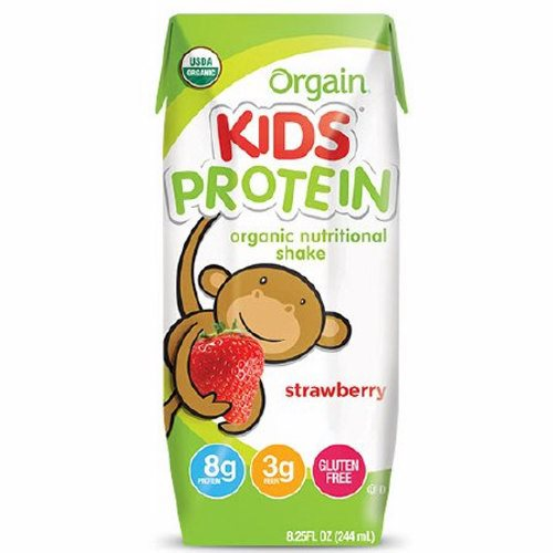 Pediatric Oral Supplement Orgain Kids Protein Organic Nutritional Shake Strawberry Flavor 8.25 oz. C 1 Each by Orgain