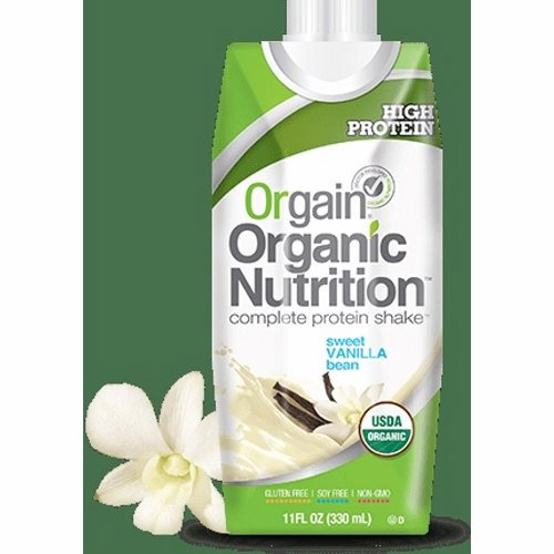 Oral Supplement Orgain Organic Nutritional Shake Sweet Vanilla Bean Flavor 11 oz. Container Carton  - 1 Each by Orgain Naturally delicious taste16 grams of organic proteinOrganic fruit and veggie blend23 vitamins and minerals