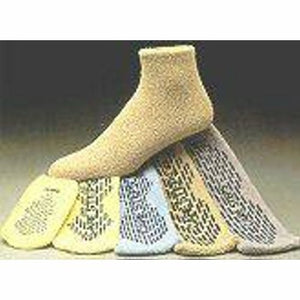 Slipper Socks Care-Steps  Adult X-Large Gray Above the Ankle Case of 48 by Alba Healthcare