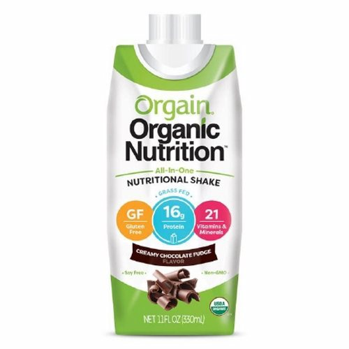 Oral Supplement Orgain Organic Nutritional Shake Creamy Chocolate Fudge Flavor 11 oz. Container Car - 1 Each by Orgain Naturally delicious taste16 grams of organic proteinOrganic fruit and veggie blend23 vitamins and minerals