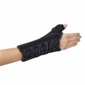 Wrist / Thumb Support Splint Quick-Fit  W.T.O. Thumb and Palmar Stay Nylon / Foam Left Hand Black On
