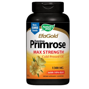 Evening Primrose Oil Cold Pressed - High Potency Gold 120 Sftgls