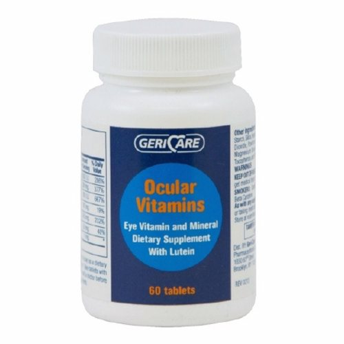 Eye Vitamin Supplement GeriCare Vitmain A / Ascorbic Acid / Vitamin E 14320 IU  226 mg  200 IU St 60 Tabs by McKesson OcularVitamins TabletsEye vitamin and mineral supplement with LuteinCompare to the active ingredients in PreserVision plus LuteinNot Made with Natural Rubber LatexPackaged  60 Per BottlePreserVision is a registered trademark of Bausch & Lomb Incorporated