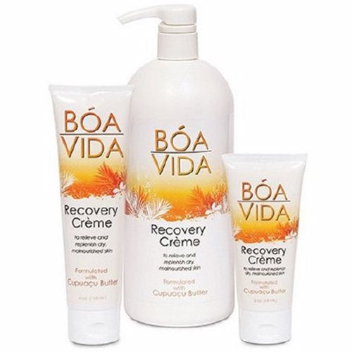 Hand and Body Moisturizer BoaVida Recovery Creme 32 oz. Pump Bottle Scented Cream - 1 Each by Central Solutions Helps with the recovery of dry, malnourished skin on a daily basisHelps restore the lipid barrier of the skinReduces transdermal water loss from the outer layer of skin