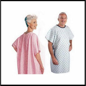 Patient Exam Gown Snap Wrap One Size Fits Most Pink Adult NonSterile 1 Each by Salk