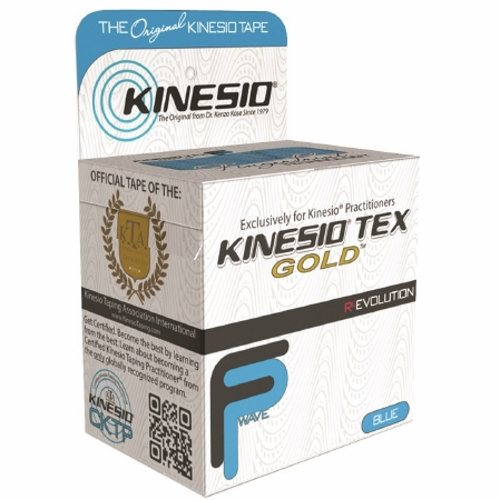 Kinesiology Tape Kinesio  Tex Gold FP Water Resistant Cotton 2 Inch X 5-1/2 Yard Blue NonSterile 6 Count by Fabrication Enterprises