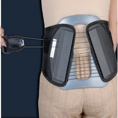 Spine Brace DonJoy Small 25 to 30 Inch Adult - 1 Each by DonJoy Provides support for mild lower back pain from L1 - S1. Ideal for thoracolumbar injury, revision surgery, and multi-level fusion. Posterior panel and flexible pulley system in an imtermediate brace that comfortably contours and conforms to the body. Low-friction flexible pulley system is designed to provide powerful, smooth and easily-controlled one-hand adjustments for controlled compression and support. Lightweight, breathable construction combines with contouring panels to help increase comfort and support.