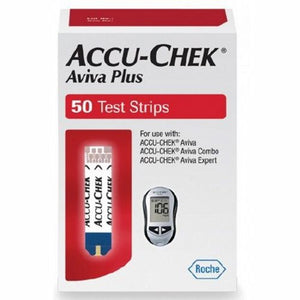 Blood Glucose Test Strips Accu-Chek  Aviva Plus 50 Strips per Box Tiny 0.6 microliter drop For Accu-