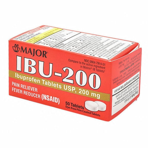 Ibu 200 Tablets White 50 Tabs by Major Pharmaceuticals Ibu 200 Tablets White 50 TabsMajor Pharmaceuticals