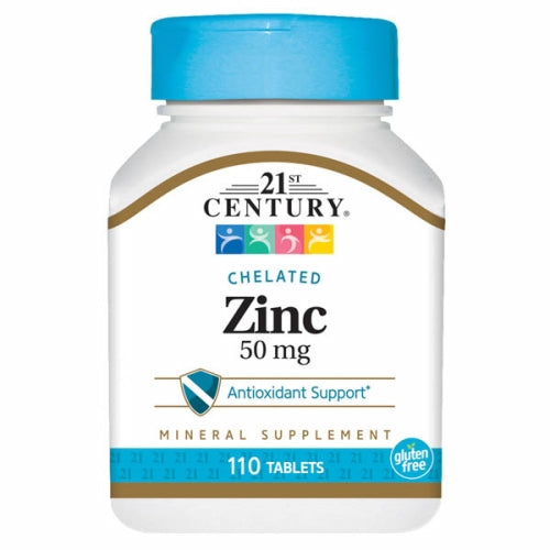 Zinc 110 Tabs by 21st Century