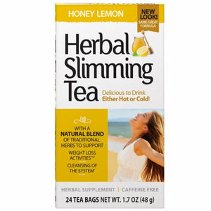Herbal Slimming Tea Honey Lemon 24 Bags by 21st Century