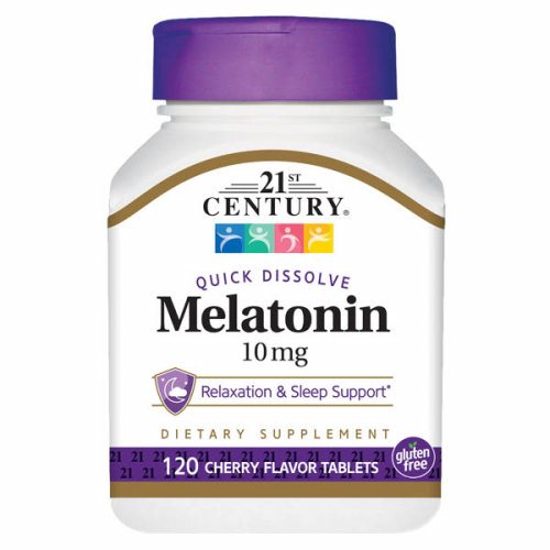 MELATONIN  10MG SUBLINGUAL Sublingual 120 Tabs by 21st Century