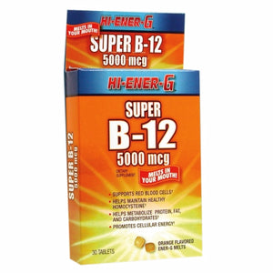 Vitamin B12 Hi Ener G Super 30 Tabs by Windmill Health Products