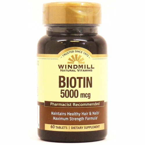Biotin 60 Tabs by Windmill Health Products