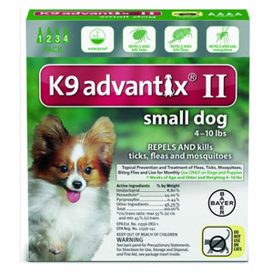 K-9 Advantix II for Small Dogs for 4-10 lbs