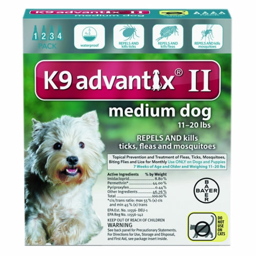 K-9 Advantix II for Medium Dogs for 11-20 lbs 4 Count by Bayer