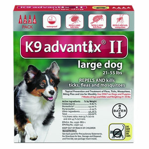 K-9 Advantix II for Large Dogs for 21-55 lbs