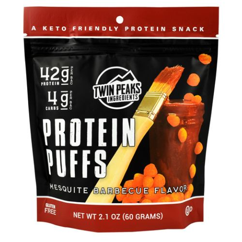 Protein Puffs Mesquite Barbeque 12 Each by Twin Peaks Ingredients