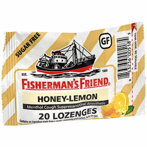 Fisherman's Friend Menthol Cough Suppressant - Oral Anesthetic Honey-Lemon Lozenges