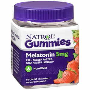 Natrol Melatonin Gummies Strawberry 60 Count by Natrol
