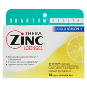TheraZinc Lozenges - ZINC & LEMON LOZENGES, 24 LOZ