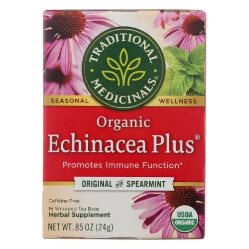 Organic Echinacea Plus Tea 16 Bags by Traditional Medicinals Teas