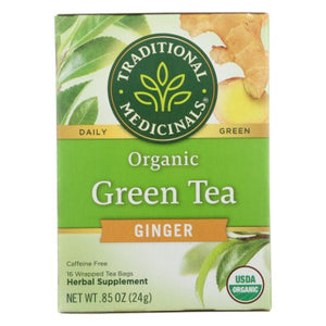 Organic Green Tea with Ginger - 16 Bags