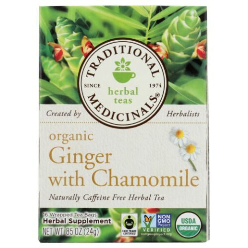 Traditional Medicinals Teas Organic Golden Ginger Digest Tea - 16 Bags