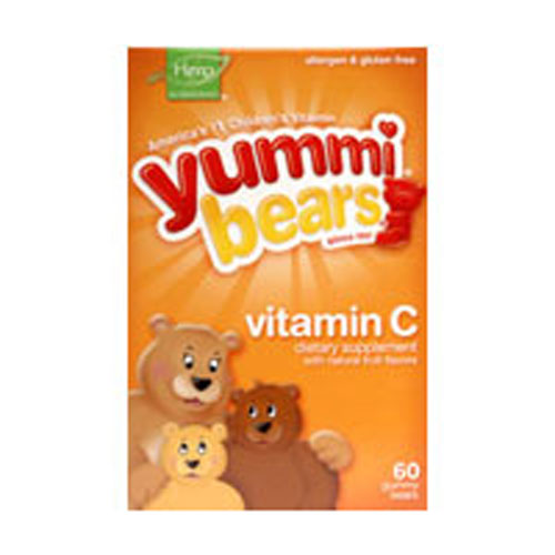 Yummi Bears Vitamin C 60 Bears by Yummi Bears (Hero Nutritional Products) #1 Nutritionist PreferredAllergen, Gluten & Dairy FreeConsidered as Dietary SupplementExcellent Source of Vitamin C Gummy Vitamins for ChildrenSince 1997The Original Gummy Vitamin