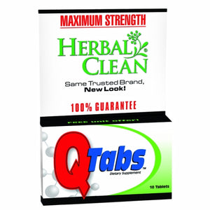Q Tabs Maximum Strength Cleansing Formula 10 Tab by BNG Enterprises/Herbal Clean