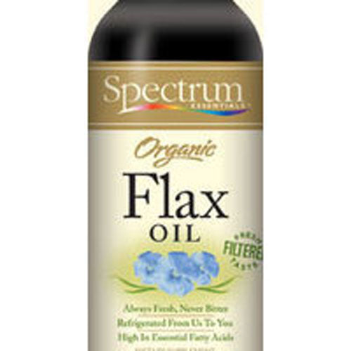 Flax Oil OG,(REFRIGERATED), 24 OZ by Spectrum Essentials Certified Organic by QAIConsidered as Dietary SupplementFiltered to Remove ImpuritiesGreat Fresh TasteUSDA Organic
