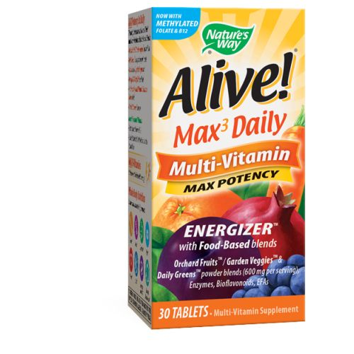 Alive Multi-Vitamin 30 Tabs by Nature's Way Dietary SupplementWith Vitamins-Minerals*