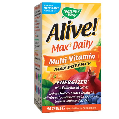 Alive Multi-Vitamin with Iron 90 Tabs by Nature's Way Multi-Vitamin SupplementWith Food Based BlendsOrchard Fruits/Garden Veggies*