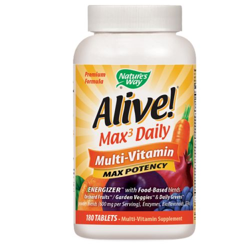 Alive Multi-Vitamin 180 Tabs by Nature's Way Multi-Vitamin SupplementWith Food Based BlendsOrchard Fruits/Garden Veggies*