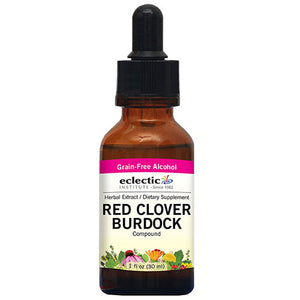 Red Clover - Burdock 1 Oz with Alcohol by Eclectic Institute Inc