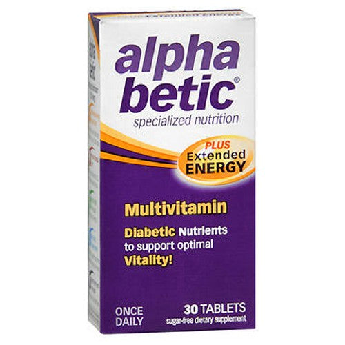 Alpha Betic Once-A-Day Multi Vitamin Supplement Caplets 30 caplets by NatureWorks Diabetic Nutrients to Support Optimal Vitality!Once DailySpecialized NutritionSugar-Free Dietary Supplement