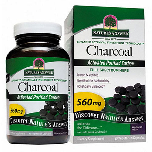 Charcoal Activated 90 Caps by Nature's Answer
