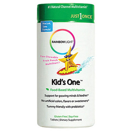 Kids One Multivitamin Fruit Punch, 90 Tabs by Rainbow Light