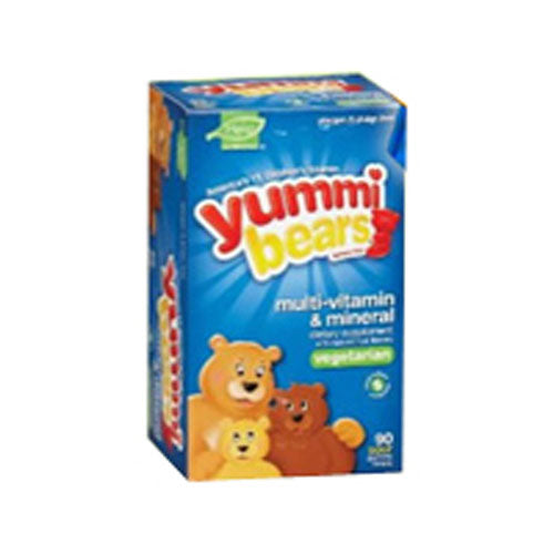 Yummi Bears Vegetarian Multi-Vitamin & Mineral Supplements 90 Bears by Yummi Bears (Hero Nutritional Products) #1 Nutritionist PreferredAllergen, Gluten, Gelatin & Dairy FreeConsidered as Dietary SupplementFor Well-Balanced NutritionGummy Vitamins for ChildrenThe Original Gummy VitaminVegetarianWith Natural Fruit Flavors and Colors