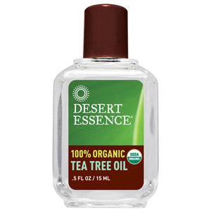 100% Organic Tea Tree Oil 0.5 Oz by Desert Essence