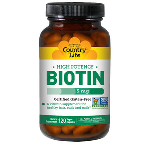 Biotin High Potency Vegetarian - 120 Caps