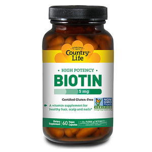 Biotin High Potency Vegetarian - 60 Caps