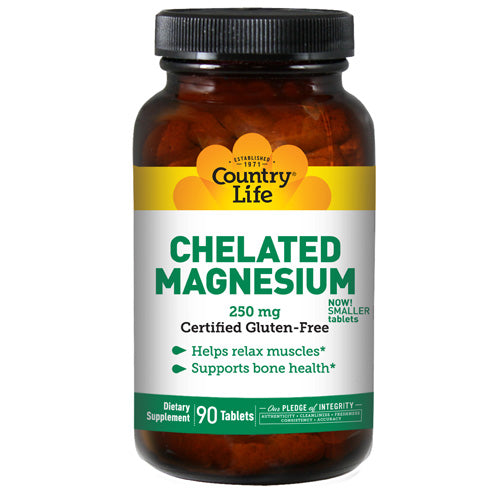 Country Life Chelated Magnesium 250mg - 90 Tabs